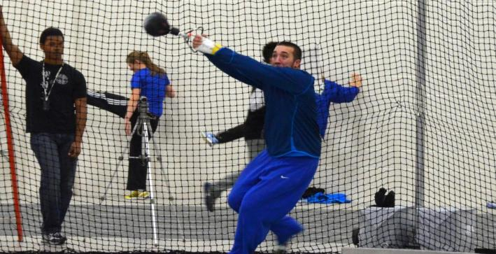 Men's Track & Field in second place after day one of NAC Championships