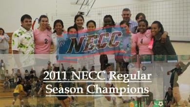 Women's Volleyball Wins 2011 NECC Regular Season Championship with 3-0 Victory Over Bay Path
