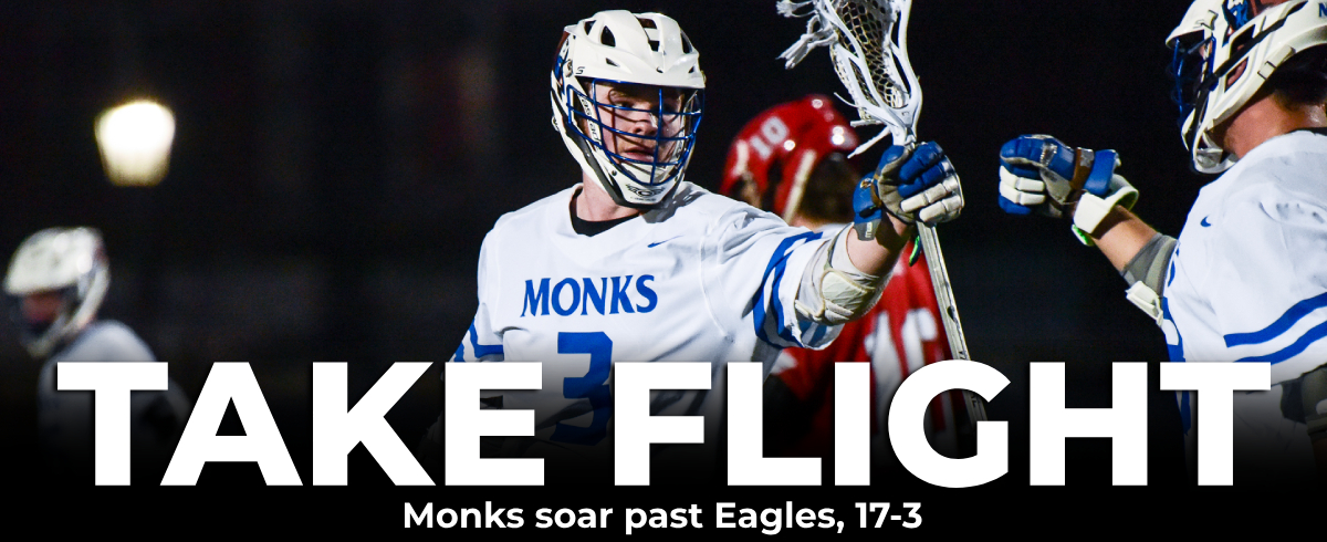 Monks Soar Past Eagles, 17-3