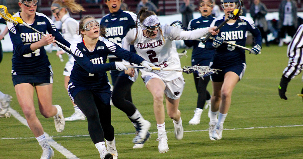 Women's Lacrosse Hangs on for Fourth Straight Win, 17-16, at SCSU