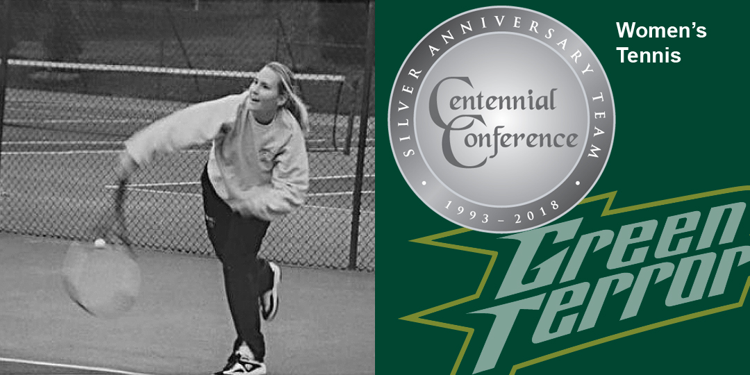 Lara Henderson makes the Centennial Conference Silver Anniversary Team for women's tennis.
