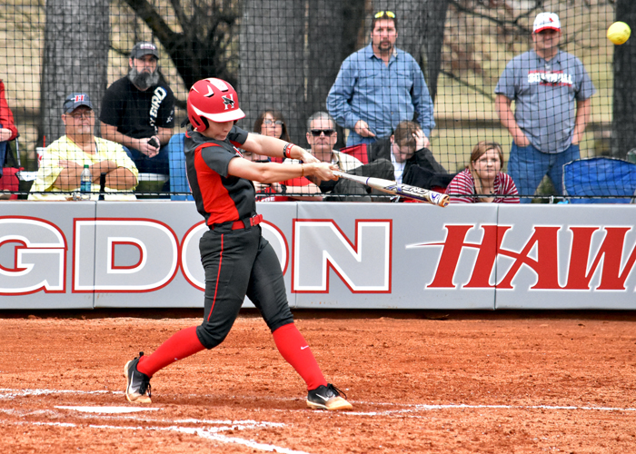 Kaci Cochran hit a solo home run in Game 1 of Sunday's doubleheader at the Mississippi University for Women.