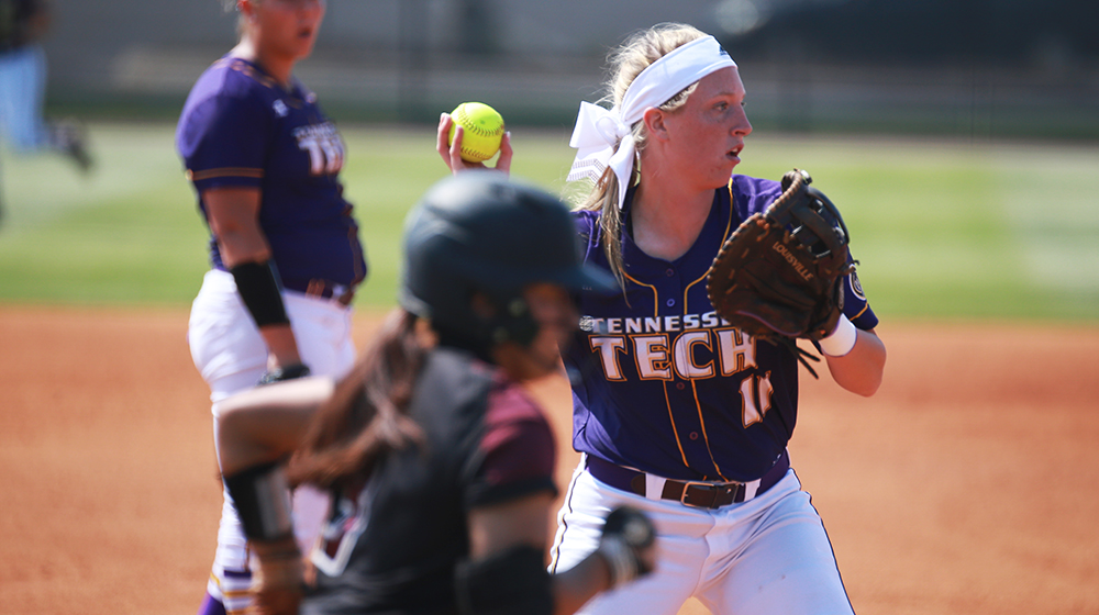 Tech softball splits at Morehead State