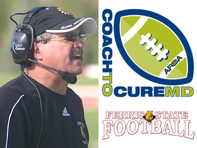 "FSU head coach Jeff Pierce and his staff will help support the ""Coach to Cure MD"" cause"