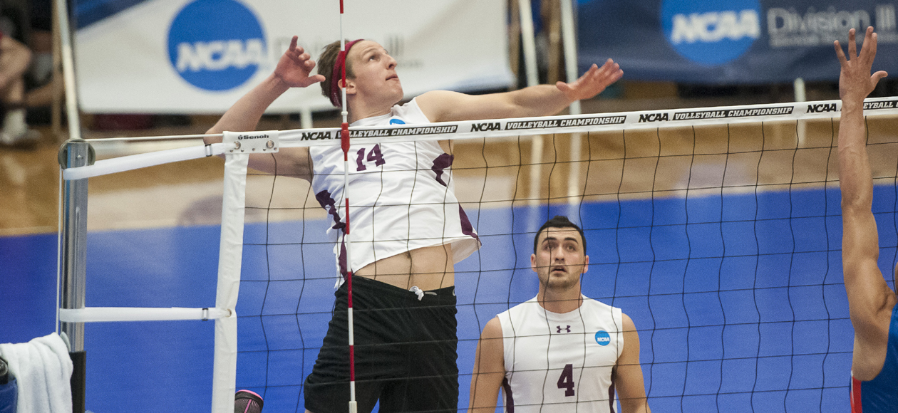 No. 1 Men's Volleyball Cruises Past No. 14 Vassar and St. Joseph's