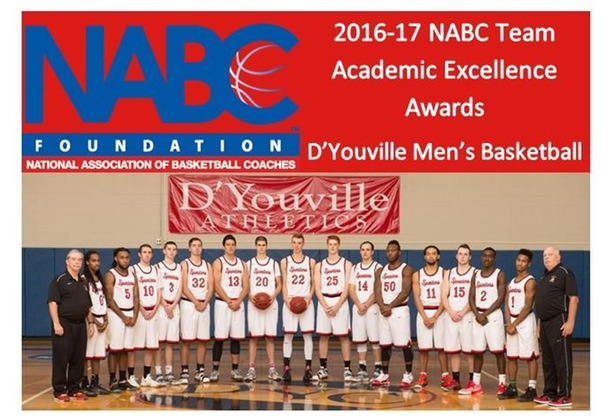 D'Youville Men's Basketball Named a 2016-17 NABC Team Academic Excellence Award Recipent