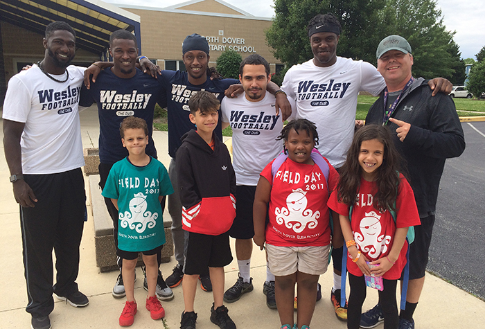 North Dover Elementary Field Day gets welcome assist from Wesley Football