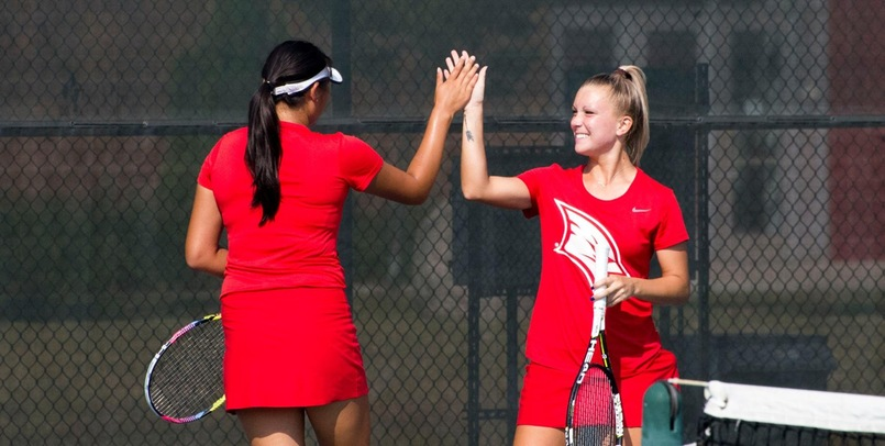 SVSU Tennis Moves to 2-0 in GLIAC After 8-1 Win Over Davenport