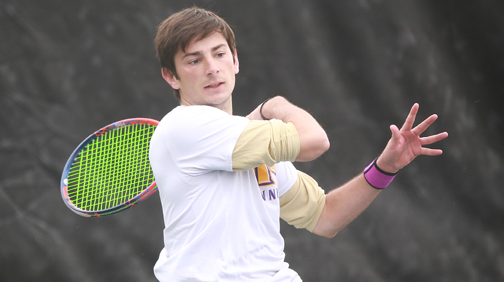 Mena falls in tightly contested battle with No. 2 overall seed in NCAA Singles Championships