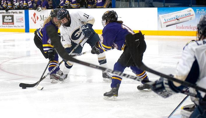 Women's Hockey Falls to St. Mary's at Home