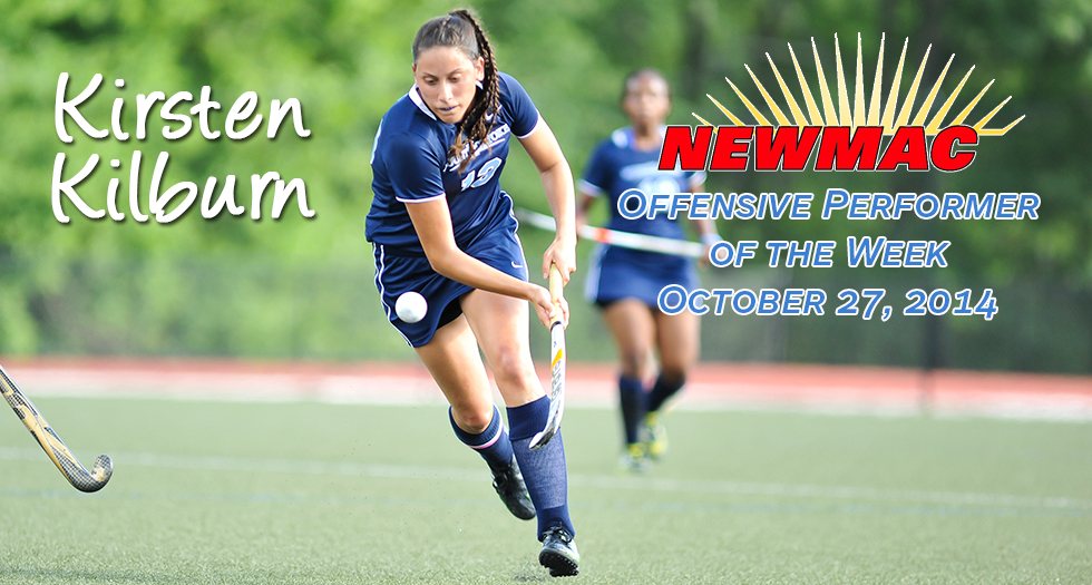 Kilburn Earns Second Straight NEWMAC Offensive Performer Honor
