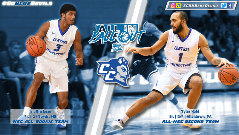 Men's Basketball Duo Earn All-NEC Honors