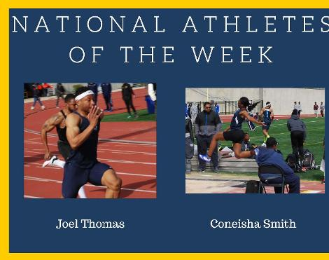 Smith and Thomas named National Athletes of the Week