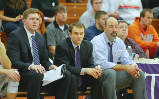Carl Danzig (right) and assistant coach Joe Mihalich (middle) look forward to the start of the 2014-2015 season.