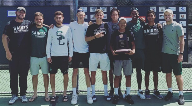 Saints tennis finishes third at Nationals