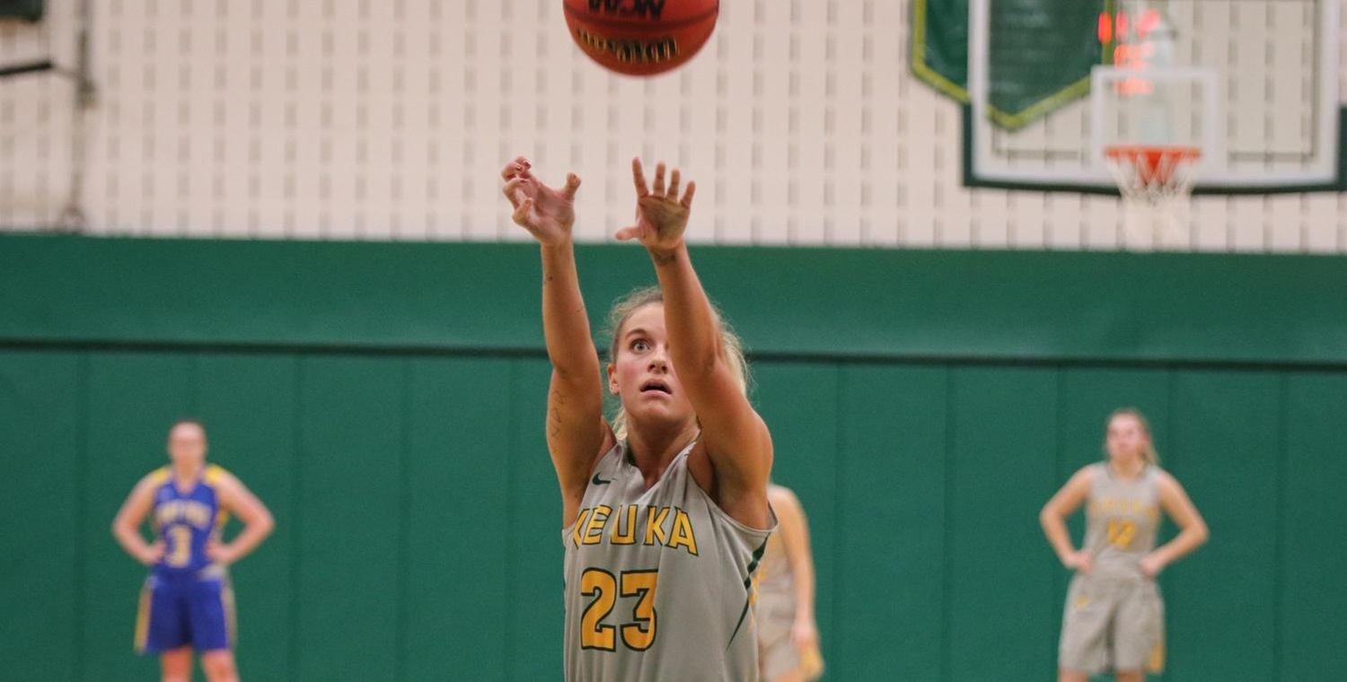 Riley Record (23) led Keuka College with 16 points on Saturday