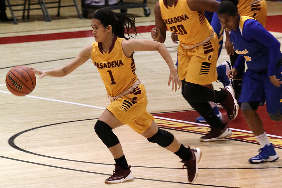 Bridget Phu was one of five PCC players to reach double figures in scoring in Friday's road victory.