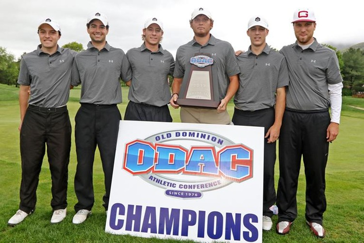 Guilford College, 2017 ODAC Men's Golf Champions (Sideline Media Productions photo)