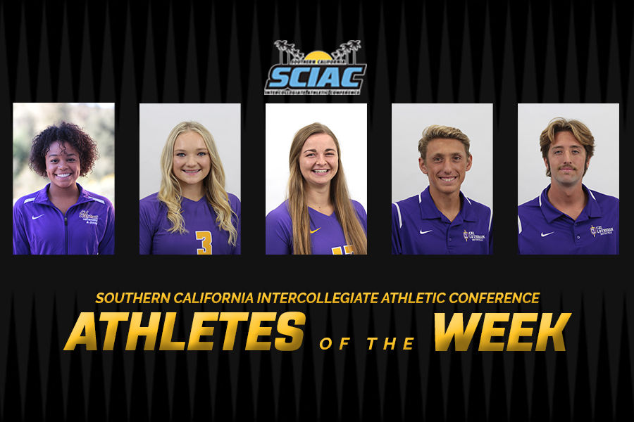 Five Cal Lutheran Student-Athletes Tabbed SCIAC Athletes of the Week