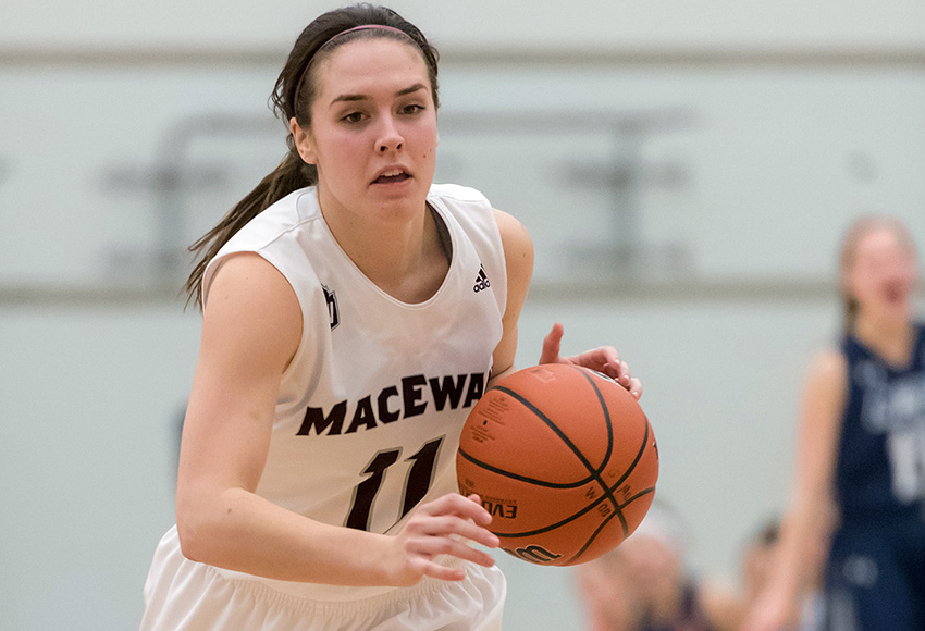 Paige Knull will play her final two games for MacEwan when the Griffins welcome the Trinity Western Spartans this weekend (Chris Piggott photo).