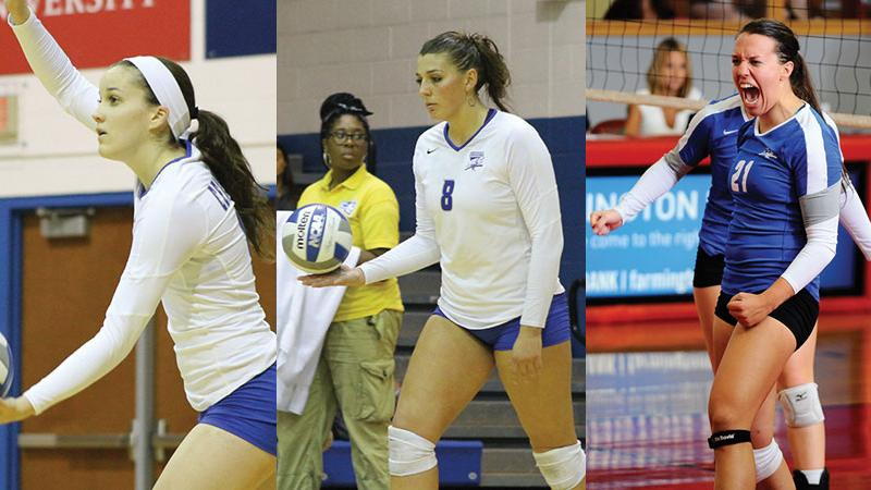 Volleyball Trio Earn Molten/NEC Weekly Awards