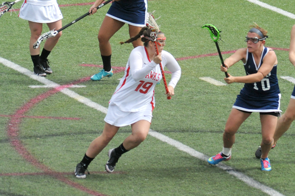 Huntingdon women's lacrosse earns third conference win