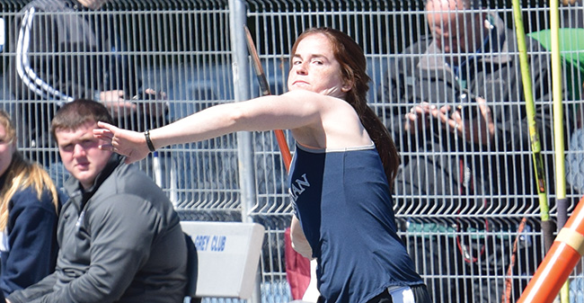 Duncan Wins Javelin as Greyhounds are 2nd after Opening Day of 2017 ECAC DIII Championship