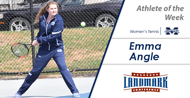 Emma Angle '21 named Landmark Conference Women's Tennis Athlete of the Week.