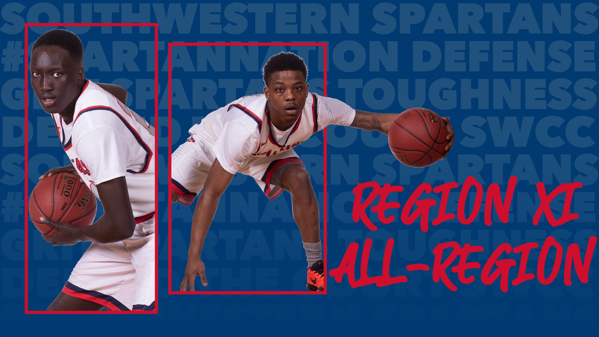 Ryan Warren and Gatdoar Kueth were named to the Region XI Division II men's basketball all-region teams.