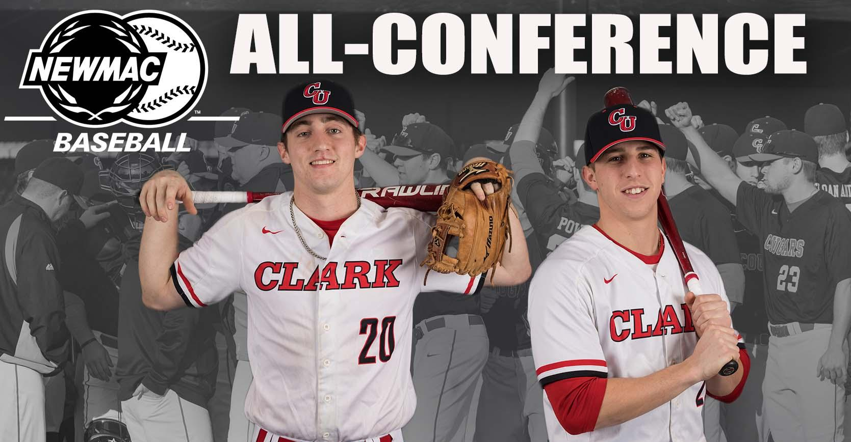 Downing and Bonicki Named to NEWMAC Baseball All-Conference First Team
