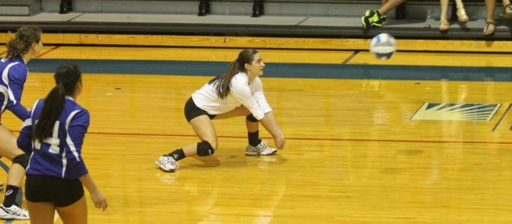 Freshman Katie Miller averaged 5.14 digs per game on Friday.