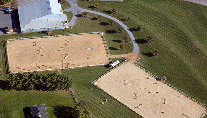 aerial view of the equestrian center