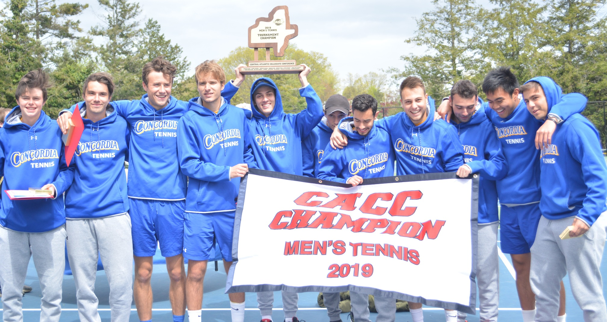 Men's Tennis Wins Ninth CACC Championship Behind 4-0 Victory Over Chestnut Hill