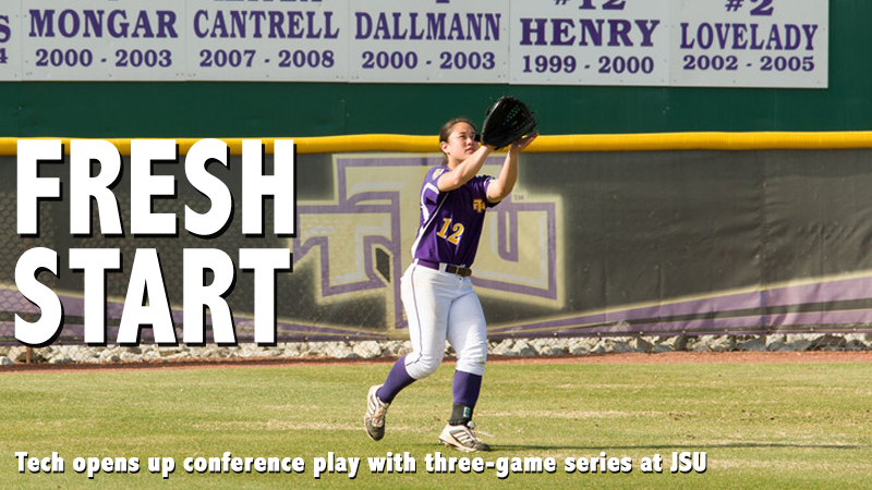 Softball opens up OVC play with three-game set at Jax State