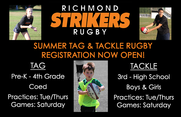 Tag & Tackle Rugby Registration for Summer 2019 Open