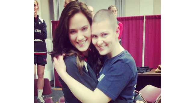 Stucker Shaves Her Head for St. Baldrick's