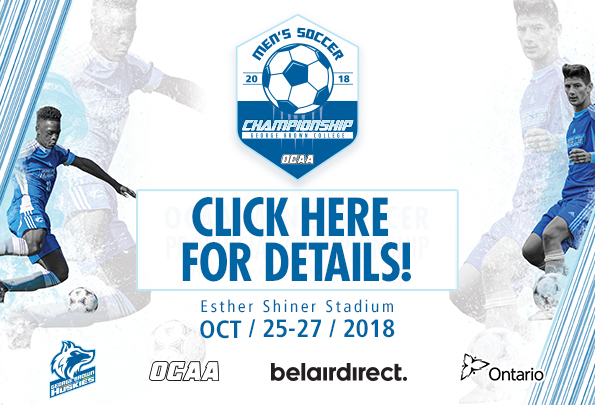 FIELD SET FOR 2018 OCAA MEN'S SOCCER CHAMPIONSHIP HOSTED BY GEORGE BROWN