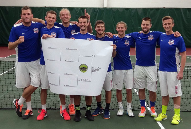 Concordia Wisconsin, 2017 NACC Men's Tennis Tournament Champion