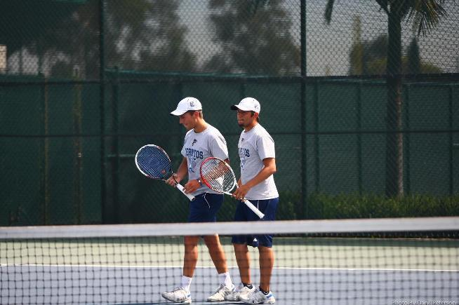 (L-R) Milos Zoric and Mark Herrera posted an 8-6 doubles win in the Regional Playoffs