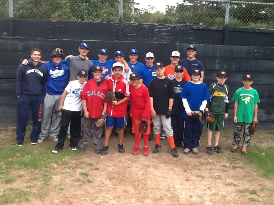 Bears Practice With Montville Fall Ball Team