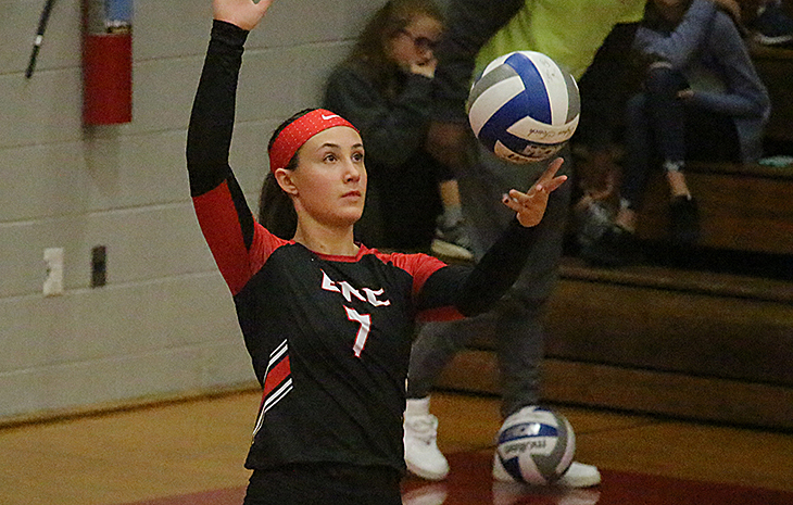 Top-Seeded Women's Volleyball Returns to NECC Finals with Thrilling 3-2 Win Over #4 Mitchell