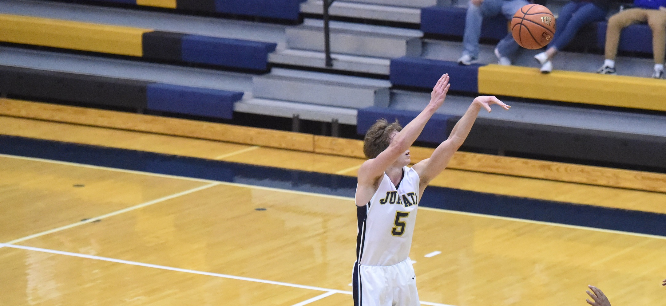 Seth Brewer fires up a three-pointer.