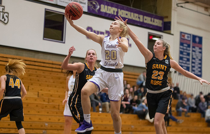 Women's Basketball Holds Off Pace, 61-55, During NE10 Road Victory