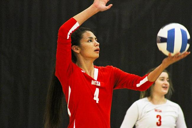#19 Mesa Rallies in Fourth Set to Win at Phoenix College, 3-1