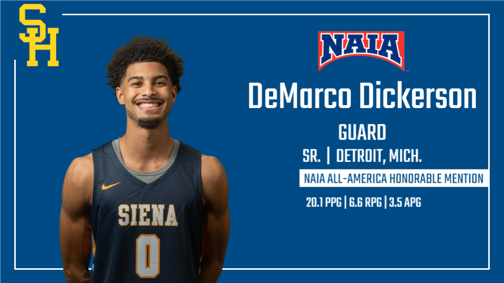 DeMarco Dickerson Named NAIA All-America Honorable Mention
