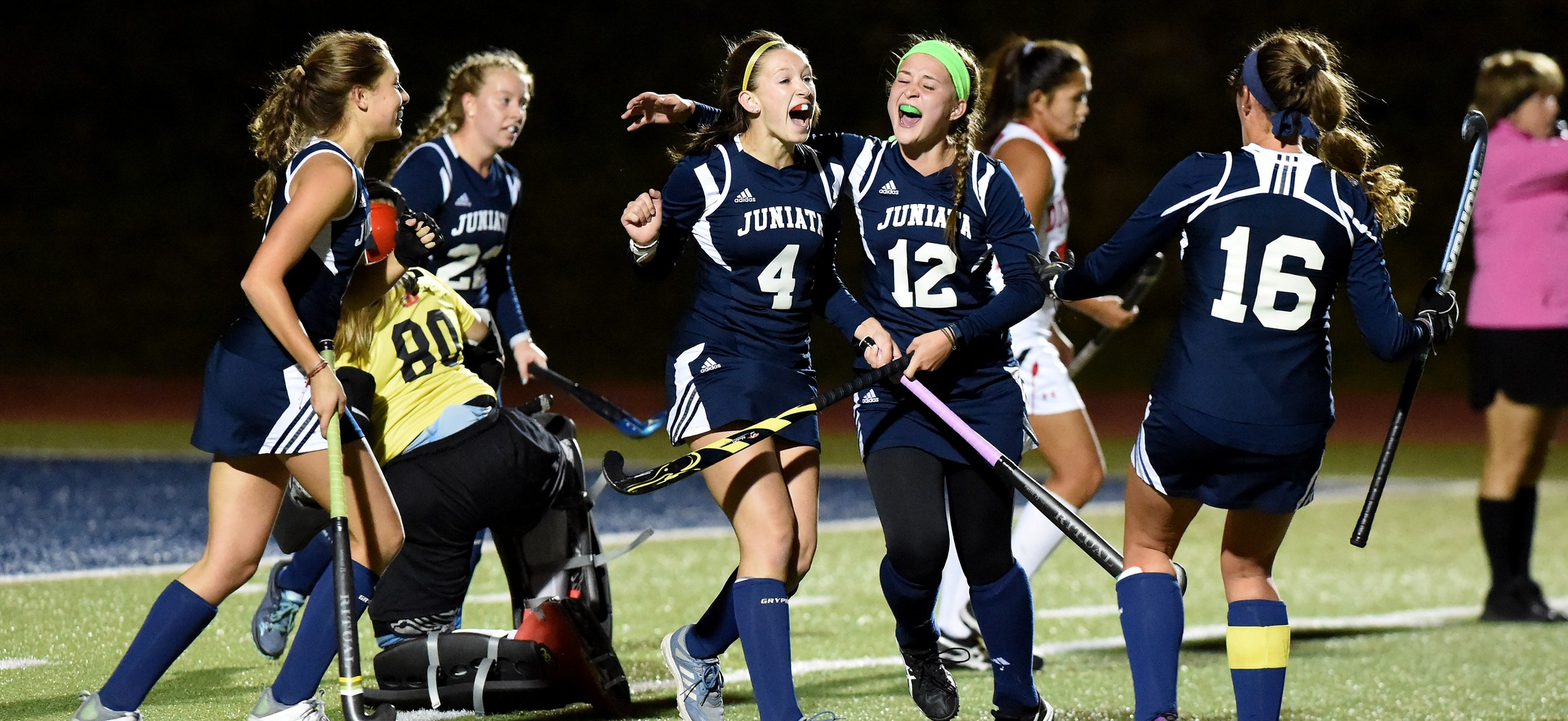 Sarah Alexander and Olivia Marker each scored a goal for Juniata in their win over Dickinson.