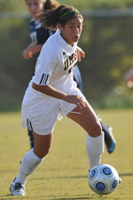 Sandra Vacarino scored twice against Vermont last season.