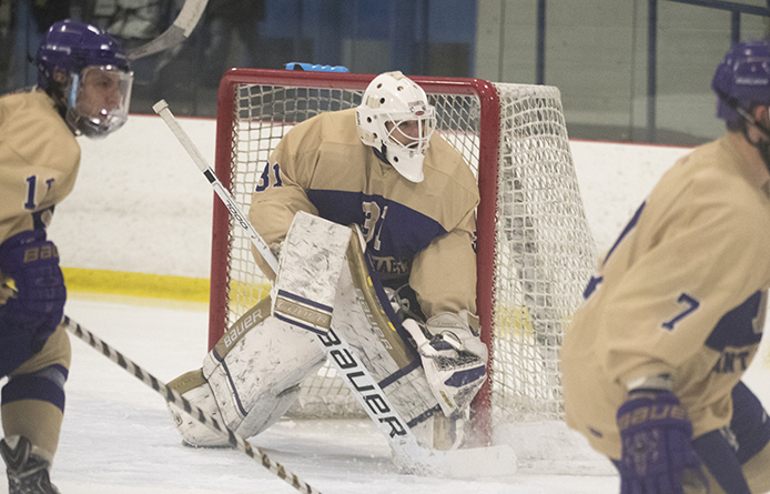 Men's ice hockey falls in road contest to nationally-regarded Babson