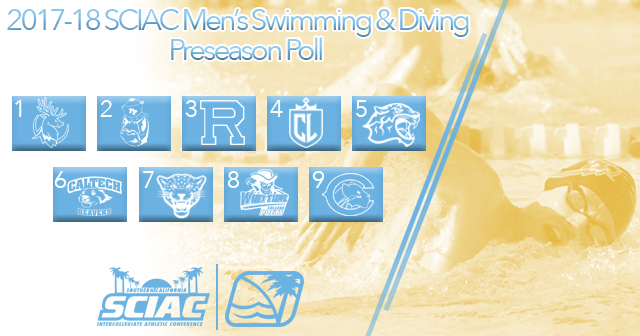 CMS Voted First in SCIAC Men's Swimming & Diving Preseason Poll