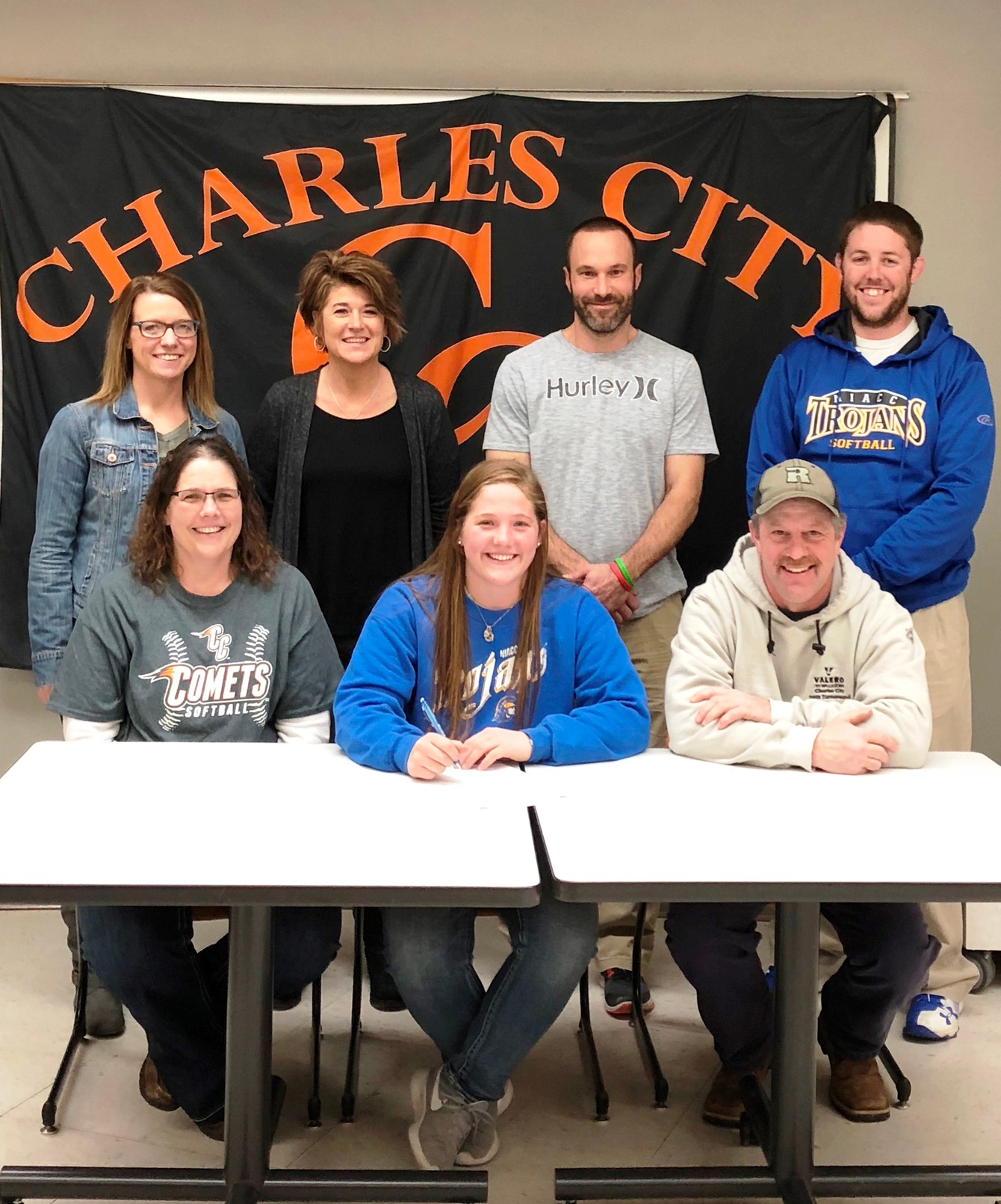 Charles City's Ciana Sonberg signed a national letter of intent Monday to play softball next season at NIACC.